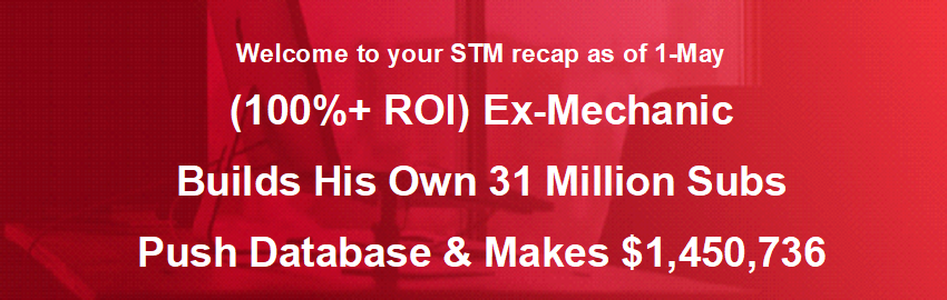 (100%+ ROI) Ex-Mechanic Builds His Own 31 Million Subs Push Database & Makes $1,450,736