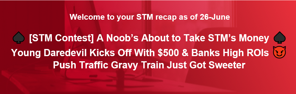 ♠️ [STM Contest] A Noob's About to Take STM's Money ♠️