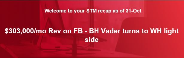 $303,000/mo Rev on FB - BH Vader turns to WH light side