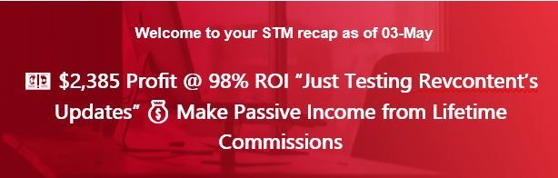 "💵 $2,385 Profit @ 98% ROI ""Just Testing Revcontent's Updates"" 💰 Make Passive Income From Lifetime Commissions"